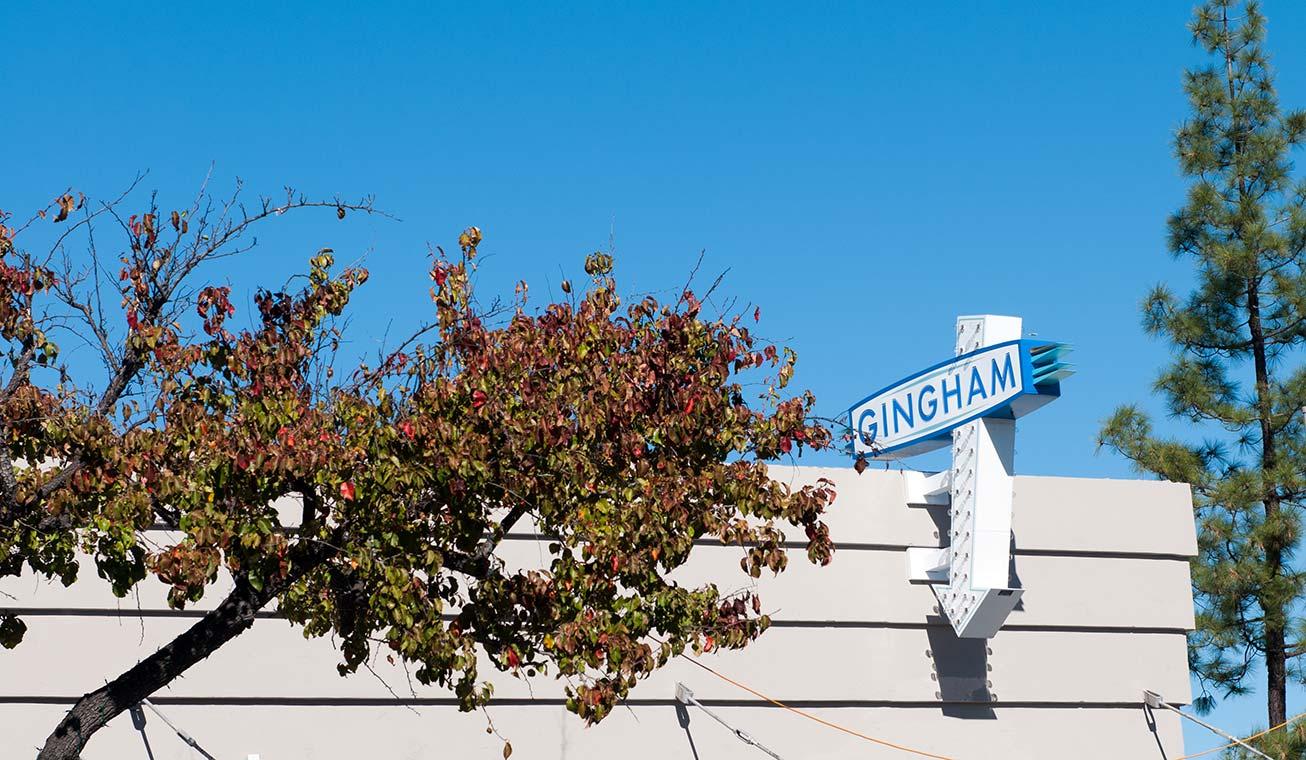 Gingham Signage
