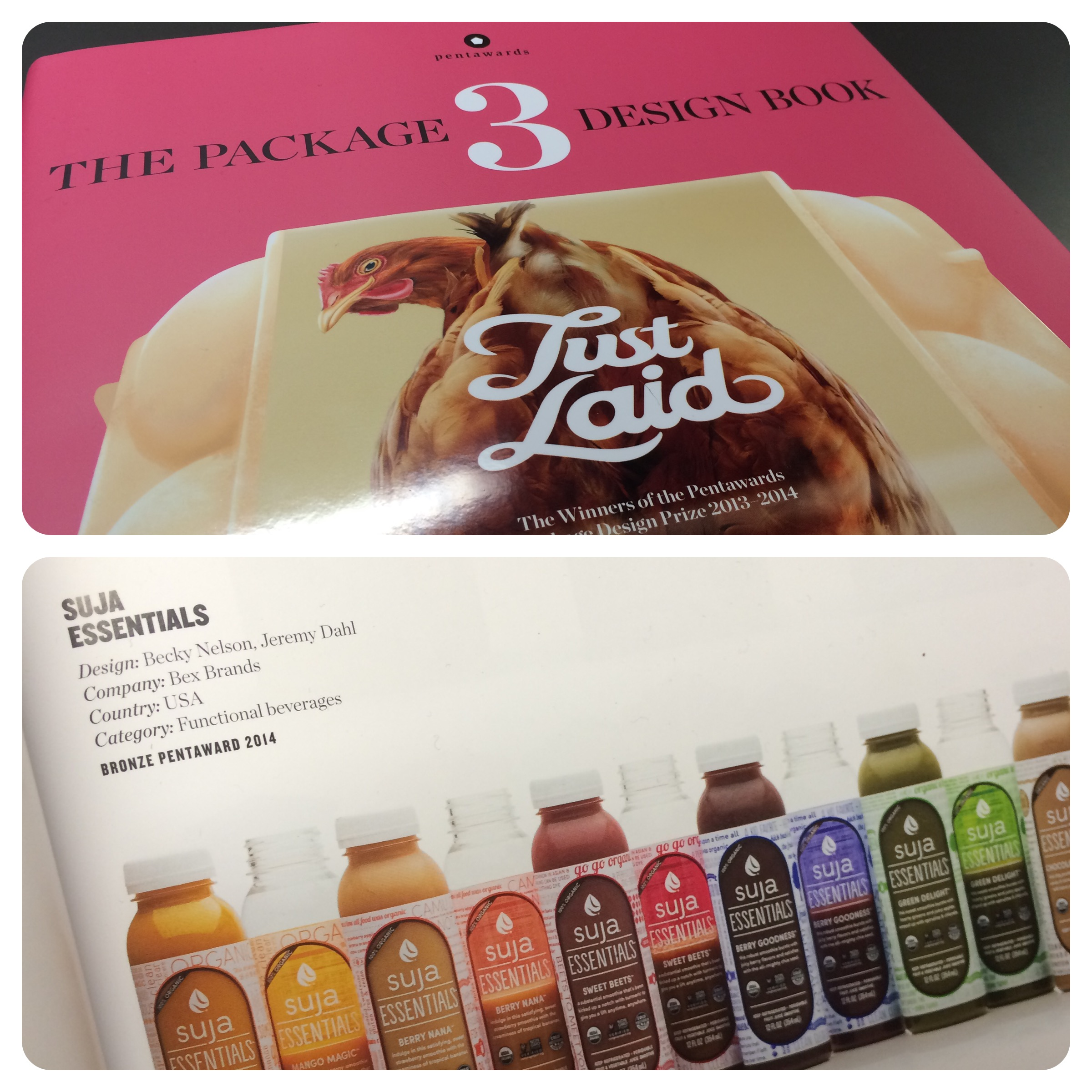 Thrilled to have Suja Essentials included as part of The Packaging Design Book 3